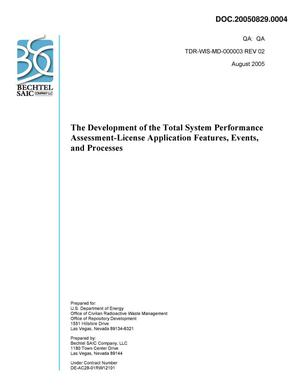 Primary view of object titled 'The Development of the Total System Performance Assessment-License Application Features, Events, and Processes'.