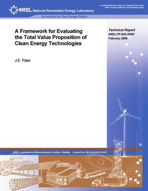 Primary view of object titled 'Framework for Evaluating the Total Value Proposition of Clean Energy Technologies'.