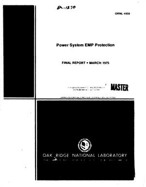 Primary view of object titled 'Power system EMP protection. Final report'.