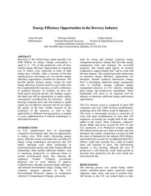 Primary view of object titled 'Energy efficiency opportunities in the brewery industry'.