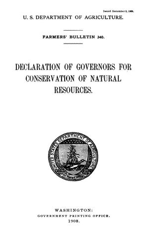 Primary view of object titled 'Declaration of Governors for Conservation of Natural Resources'.