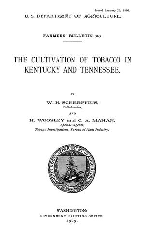 Primary view of object titled 'The Cultivation of Tobacco in Kentucky and Tennessee'.