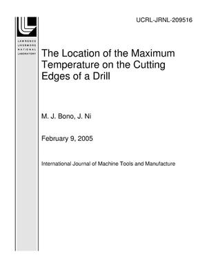 Primary view of object titled 'The Location of the Maximum Temperature on the Cutting Edges of a Drill'.