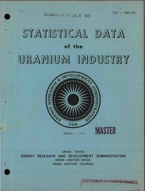 Primary view of object titled 'Statistical data of the uranium industry'.