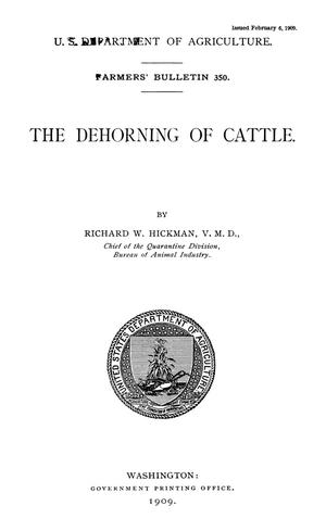 Primary view of The Dehorning of Cattle
