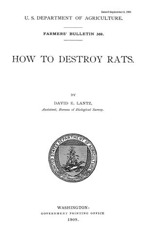 Primary view of object titled 'How to Destroy Rats'.