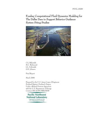 Primary view of object titled 'Forebay Computational Fluid Dynamics Modeling for The Dalles Dam to Support Behavior Guidance System Siting Studies'.