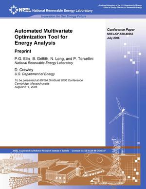 Primary view of object titled 'Automated Multivariate Optimization Tool for Energy Analysis: Preprint'.