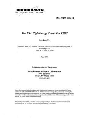 Primary view of object titled 'THE ERL HIGH-ENERGY COOLER FOR RHIC.'.