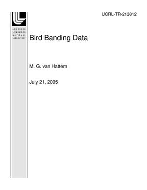 Primary view of object titled 'Bird Banding Data'.