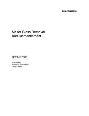 Primary view of object titled 'Melter Glass Removal and Dismantlement'.