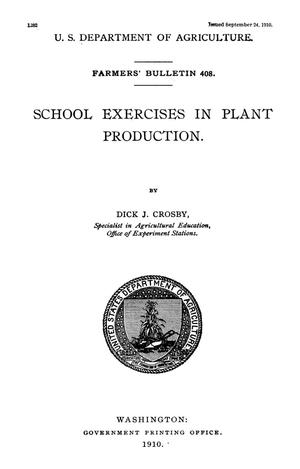 Primary view of School Exercises in Plant Production