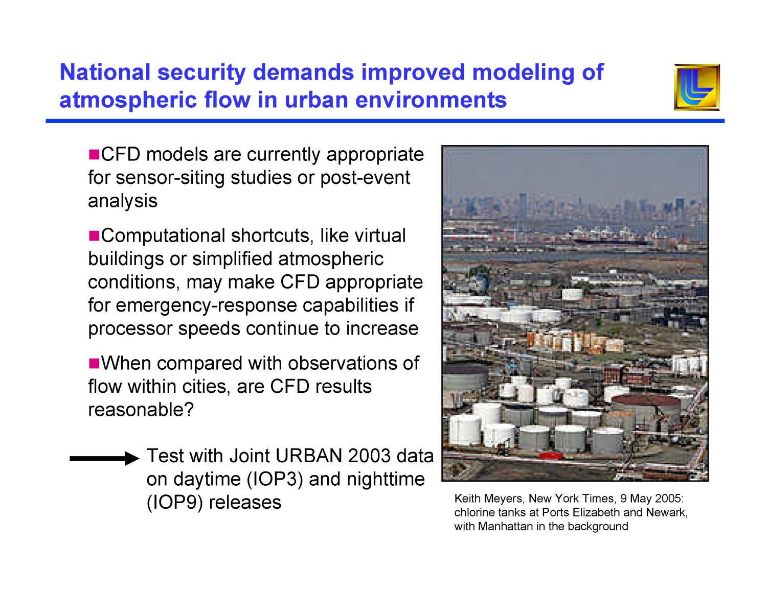 Analysis of Joint URBAN 2003 Wind and Turbulence Profiles and Comparison with FEM3MP Simulations                                                                                                      [Sequence #]: 4 of 18