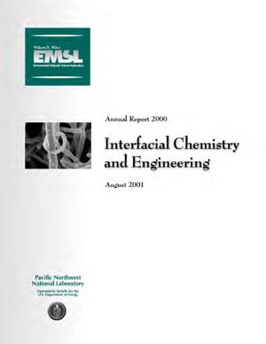 Primary view of object titled 'Interfacial Chemistry and Engineering Annual Report 2000'.