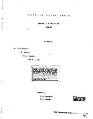 Primary view of object titled 'Heavy ion lecture series, 1972--73, Volume II'.