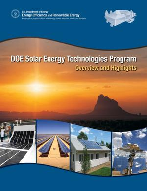 Primary view of object titled 'DOE Solar Energy Technologies Program: Overview and Highlights'.