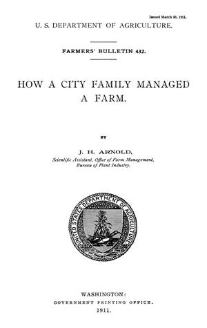 Primary view of object titled 'How a City Family Managed a Farm'.
