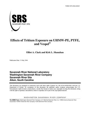 Primary view of object titled 'EFFECTS OF TRITIUM EXPOSURE ON UHMW-PE, PTFE, AND VESPEL'.
