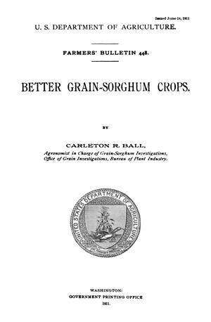 Primary view of object titled 'Better Grain-Sorghum Crops'.