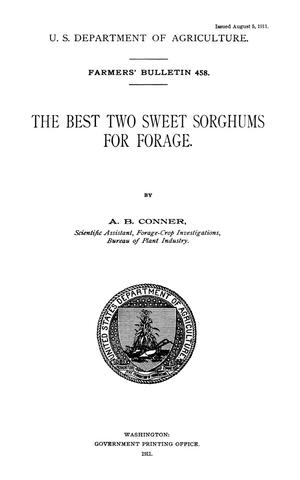 Primary view of object titled 'The Best Two Sweet Sorghums for Forage'.