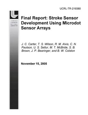Primary view of object titled 'FY04 LDRD Final Report Stroke Sensor Development Using Microdot Sensor Arrays'.