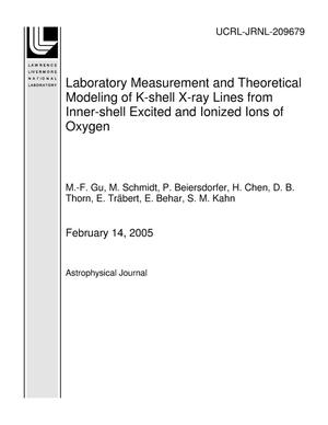 Primary view of object titled 'Laboratory Measurement and Theoretical Modeling of K-shell X-ray Lines from Inner-shell Excited and Ionized Ions of Oxygen'.