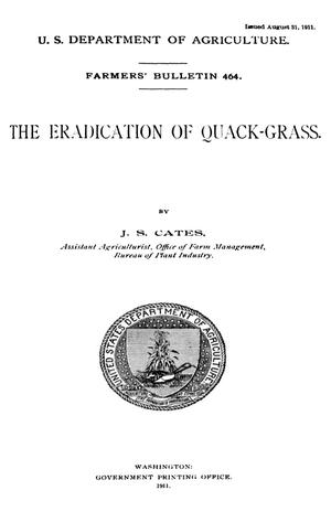 Primary view of object titled 'The Eradication of Quack-Grass'.