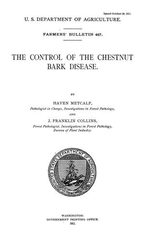 Primary view of The Control of the Chestnut Bark Disease