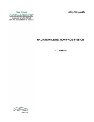 Primary view of object titled 'Radiation Detection from Fission'.
