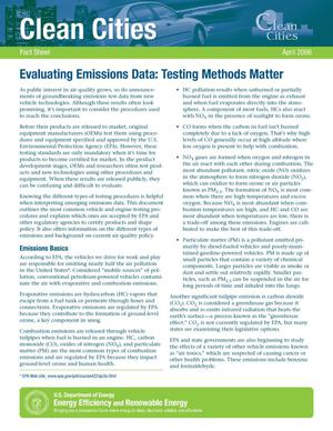 Primary view of object titled 'Evaluating Emissions Data: Testing Methods Matter'.