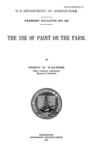 Primary view of The Use of Paint on the Farm