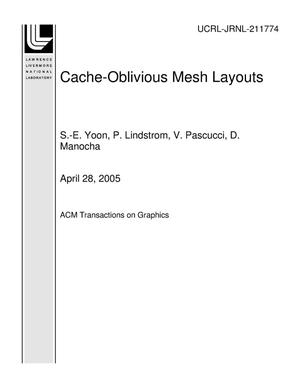 Primary view of object titled 'Cache-Oblivious Mesh Layouts'.