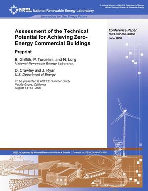 Primary view of object titled 'Assessment of the Technical Potential for Achieving Zero-Energy Commercial Buildings: Preprint'.