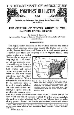 Primary view of object titled 'The Culture of Winter Wheat in the Eastern United States'.