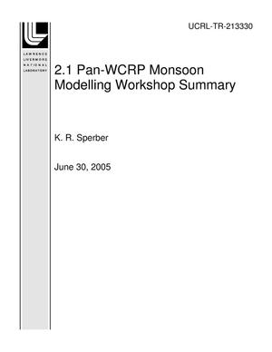 Primary view of object titled '2.1 Pan-WCRP Monsoon Modelling Workshop Summary'.