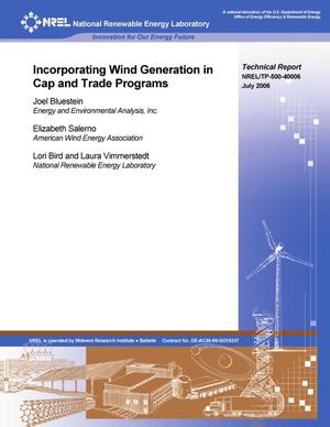 Primary view of object titled 'Incorporating Wind Generation in Cap and Trade Programs'.