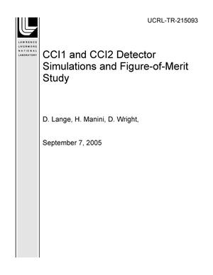 Primary view of object titled 'CCI1 and CCI2 Detector Simulations and Figure-of-Merit Study'.
