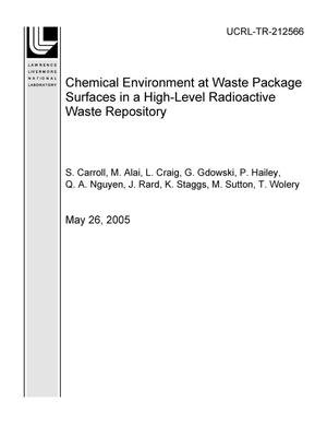 Primary view of object titled 'Chemical Environment at Waste Package Surfaces in a High-Level Radioactive Waste Repository'.