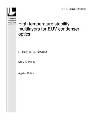 Primary view of object titled 'High temperature stability multilayers for EUV condenser optics'.