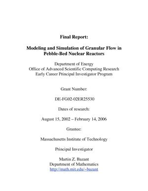 Primary view of object titled 'Analysis of granular flow in a pebble-bed nuclear reactor'.