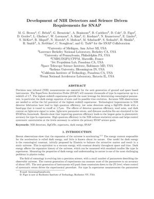 Primary view of object titled 'Development of NIR detectors and science driven requirements forSNAP'.