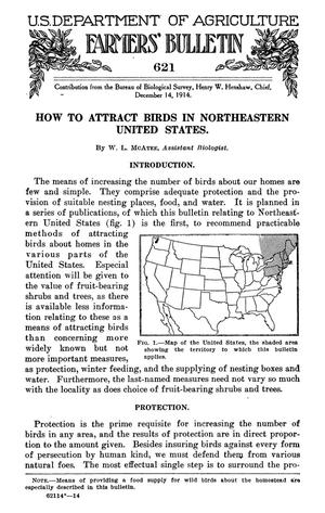 Primary view of object titled 'How to Attract Birds in Northeastern United States'.