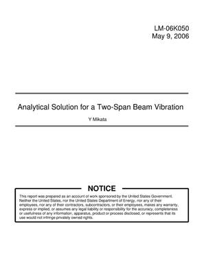 Primary view of object titled 'Analytical Solution for a Two-Span Beam Vibration'.