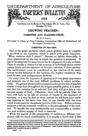 Primary view of object titled 'Growing Peaches: Varieties and Classification'.