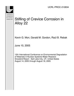 Primary view of object titled 'Stifling of Crevice Corrosion in Alloy 22'.