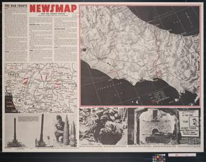 Primary view of object titled 'Newsmap. For the Armed Forces. 245th week of the war, 127th week of U.S. participation'.