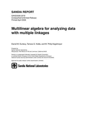 Primary view of object titled 'Multilinear algebra for analyzing data with multiple linkages.'.