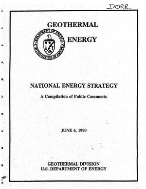 Primary view of object titled 'National Energy Strategy - A Compilation of Public Comments'.