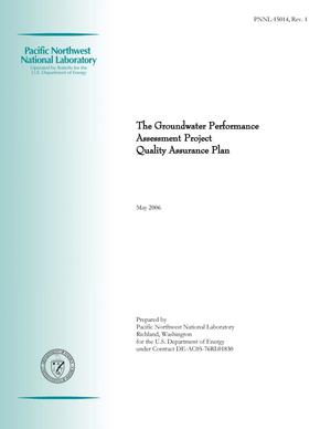 Primary view of object titled 'The Groundwater Performance Assessment Project Quality Assurance Plan'.