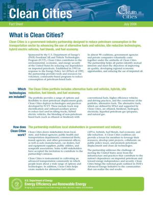 Primary view of object titled 'Clean Cities Fact Sheet, July 2006'.